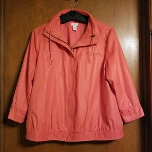 Chicos Coral Snake Skin Style Jacket Size 2